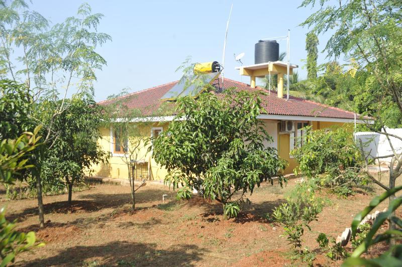 Vista della villa dal sit-fuori area