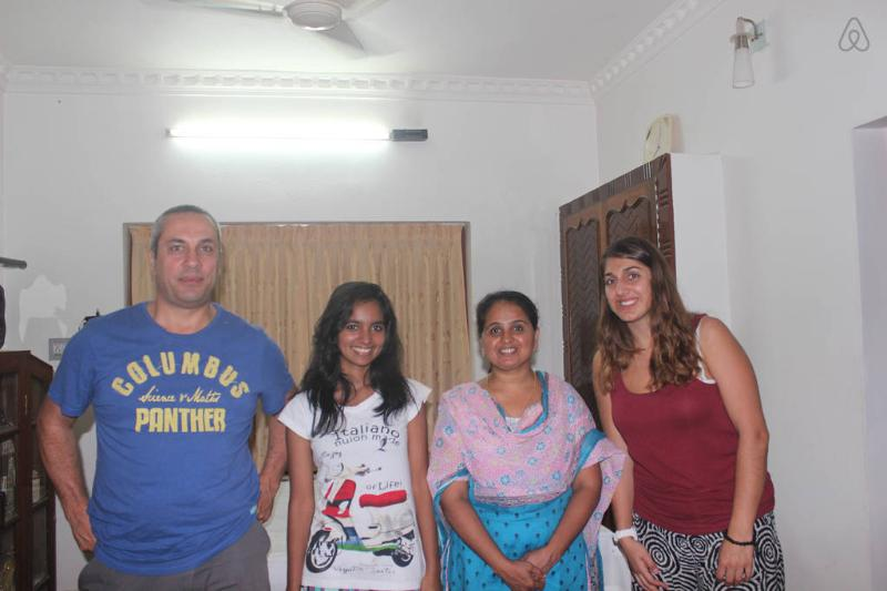 With our guests