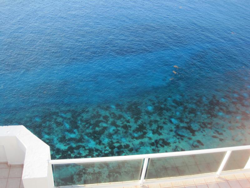 Nice bleu and clear waters of Cozumel