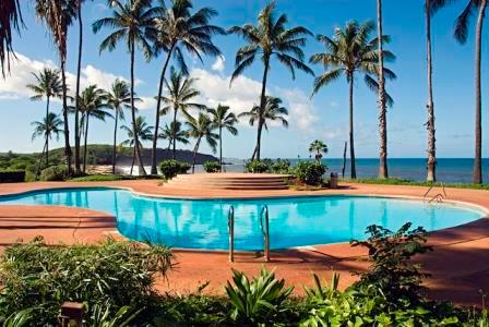 Pool Area - Located Oceanfront.  Lounge Chairs Available for Guest Use.