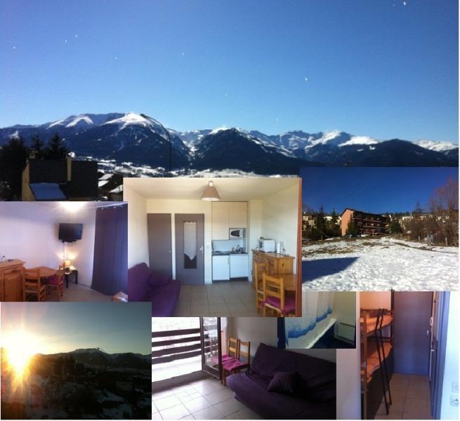 Studio cabine 4 couchages 2 étoiles tout equipé, holiday rental in Saillagouse