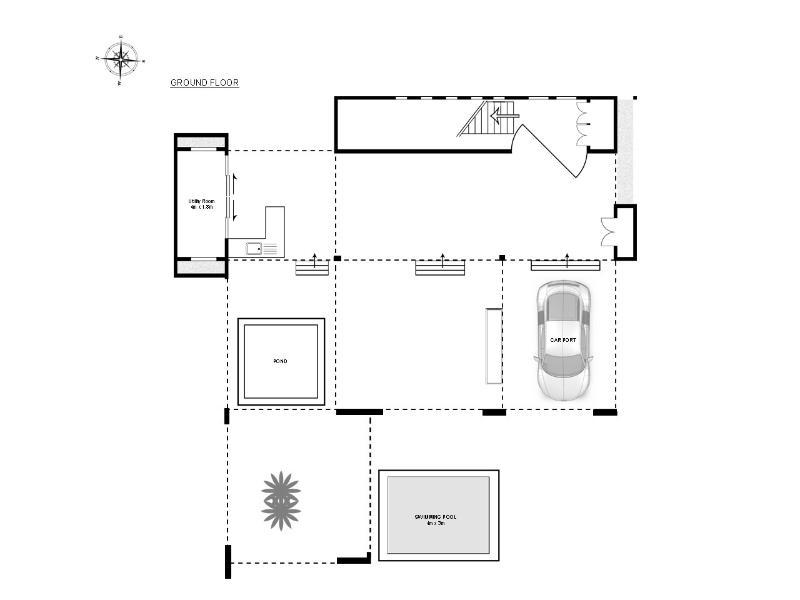 planlösning bottenvåningen