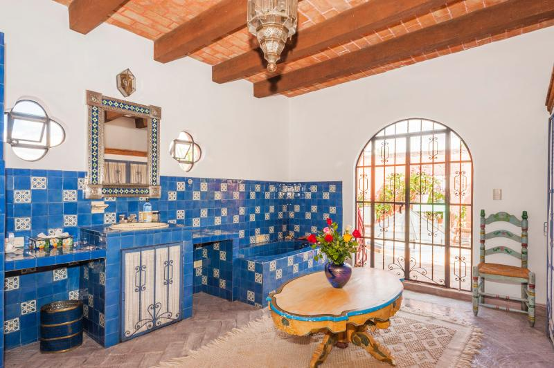 Bathroom of blue suite