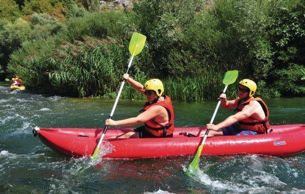 Cetina River and rafting are only two kilometer away