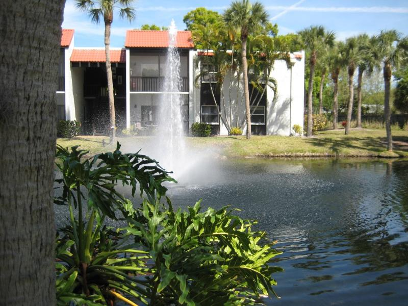 Fountain and Pond on Grounds