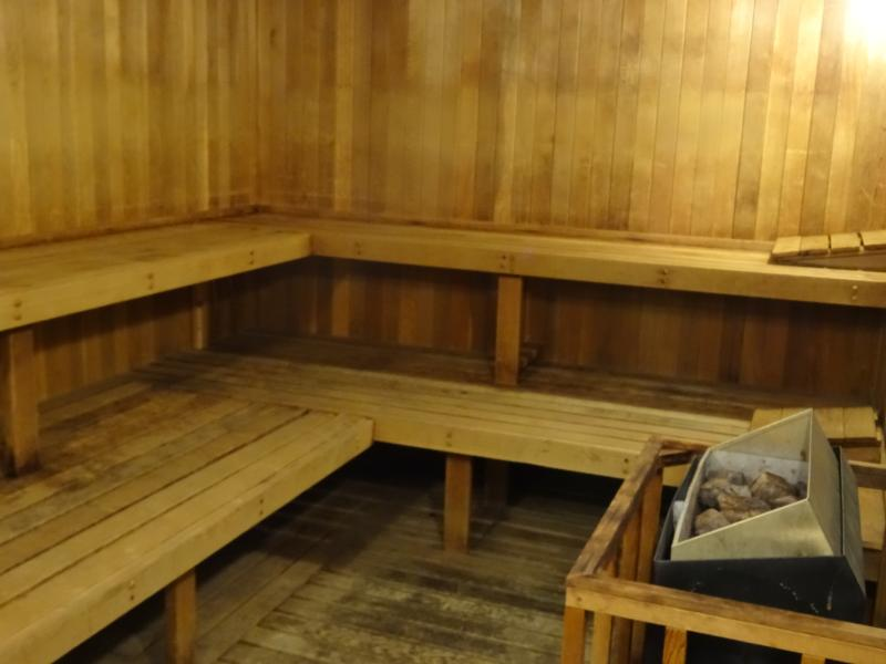 The sauna is right down the hall from our unit!