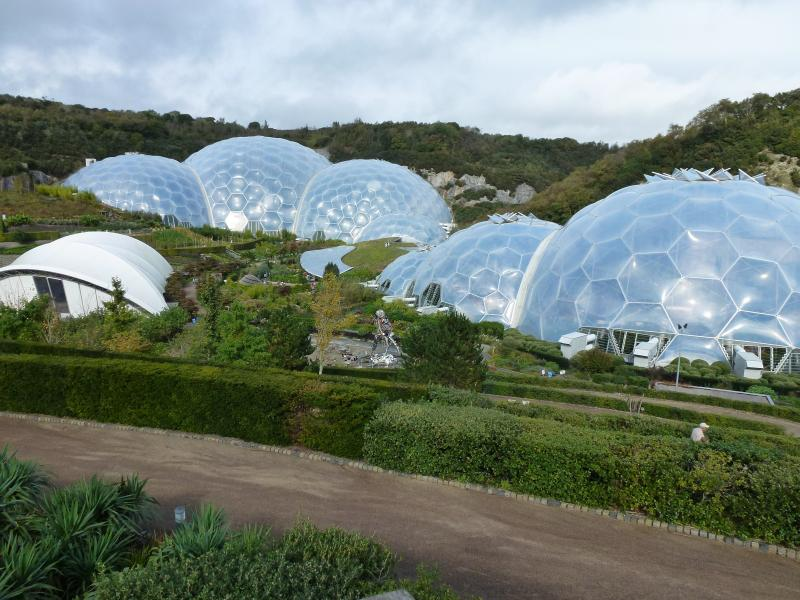 Eden Project with the largest indoor rain forest. Also England's largest zip wire here