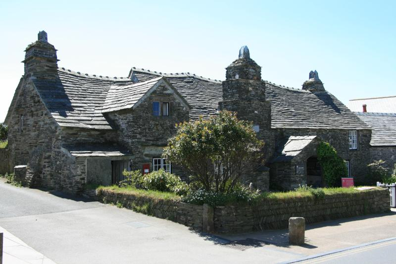 The Old Post Office, Tintagel,also King Arthur's Castle and Great Hall with fabulous stained glass.