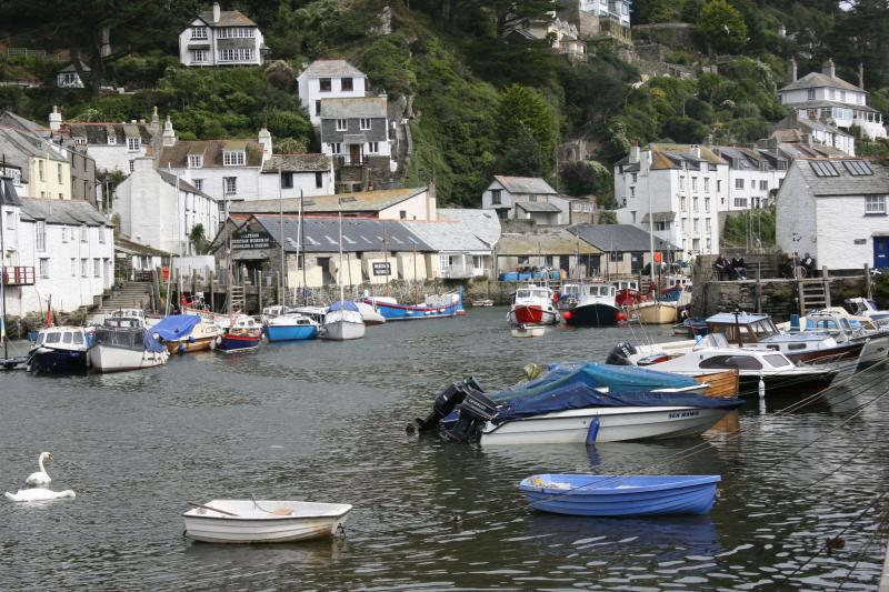 Polperro near Looe (South Cornwall) fishing village with history of smuggling