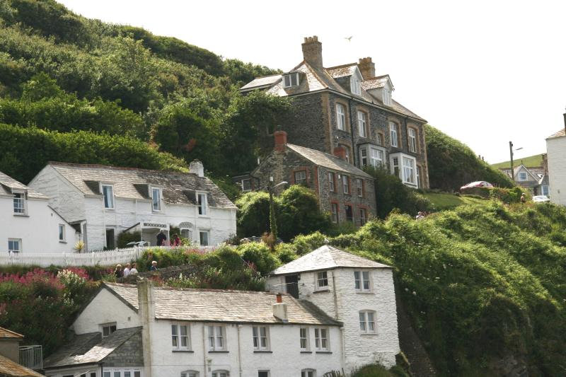 Doc Martin's surgery on the hill at Port Isaac