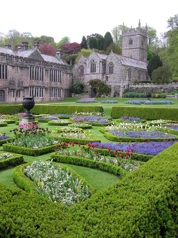 Lanhydrock house and gardens with little church in the grounds. Cycle Hub & trails, bike hire here