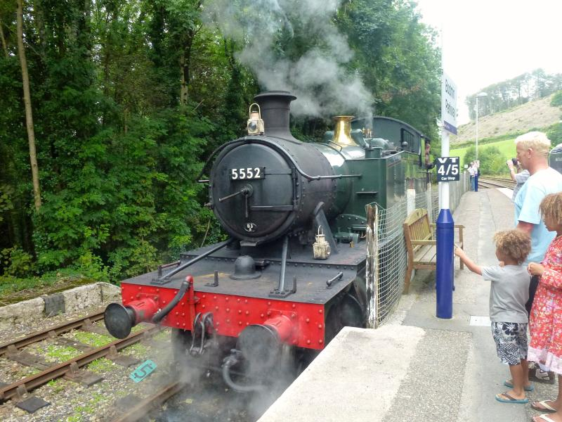Bodmin & Wenford steam at Bodmin Parkway. Walk to Respryn and Lanhydrock, also woodland walks
