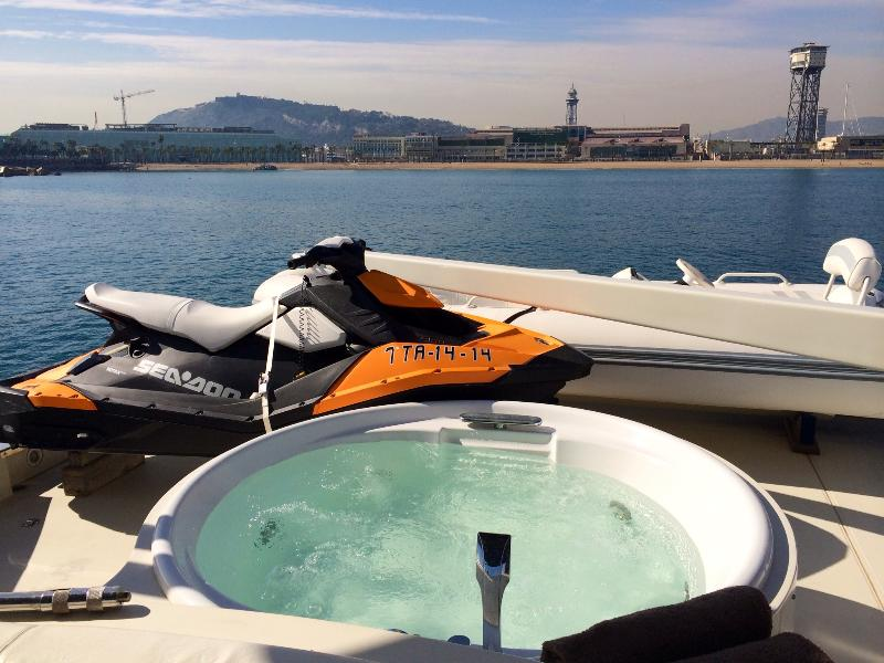 Enjoying the Barcelona skyline from your hot tub is hard to describe to your friends back home