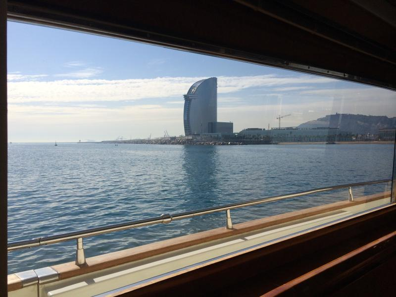 Views of the W Hotel from your own floating palace