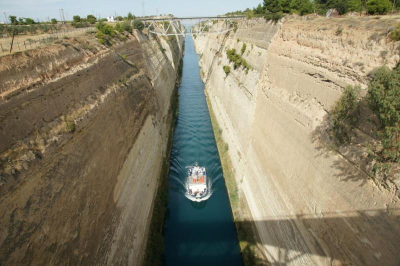 The Isthmus (Canal of Corinth), 90 km from Harmony