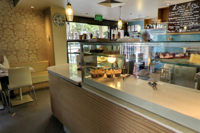 A cafe in the building for a convenient breakfast, brunch or lunch.