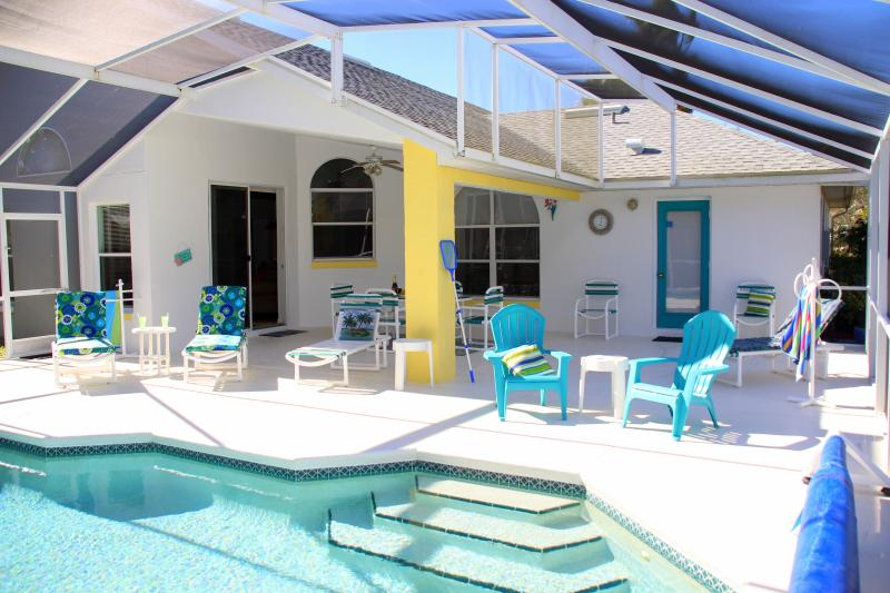 Very Large Deck Area and Full size stepped Pool