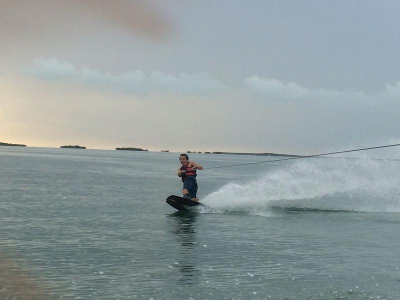 When it's too windy on the oceanside, there's always wakeboarding on the bayside.