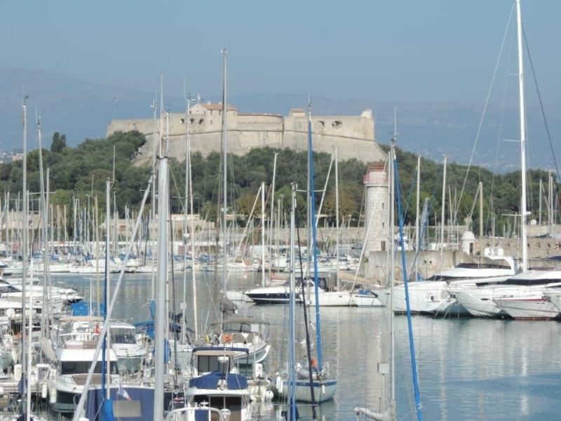 Antibes port and Fort Carre