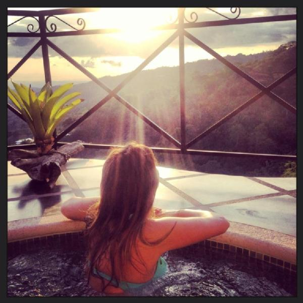 Relax in your very own jacuzzi with a view...