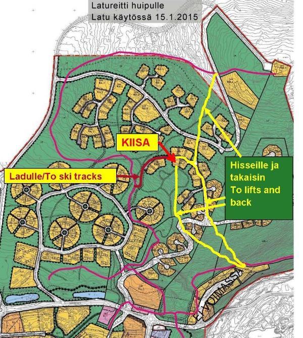 Map of ski tracks
