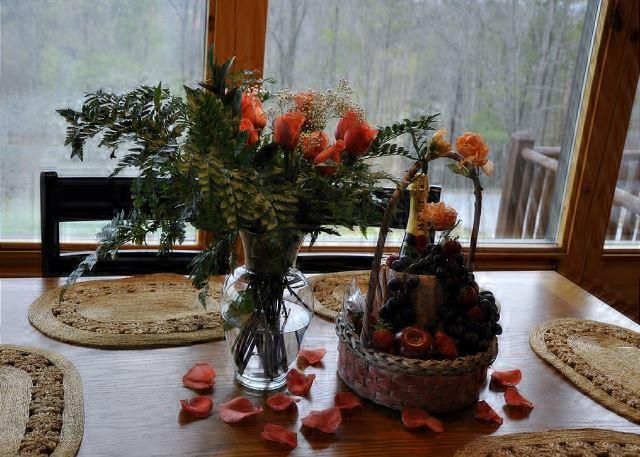 Gift Basket and Flowers
