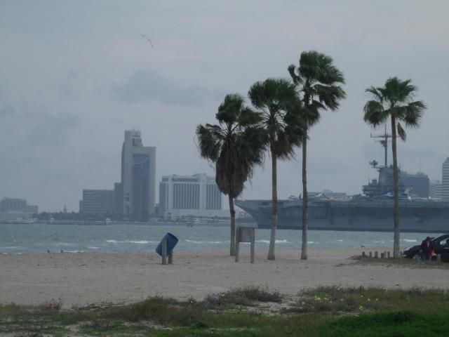 View of downtown and Lexington from beach