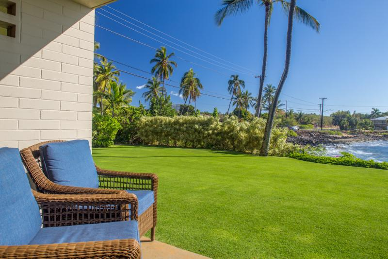 watch the sea turtles from these lanai chairs