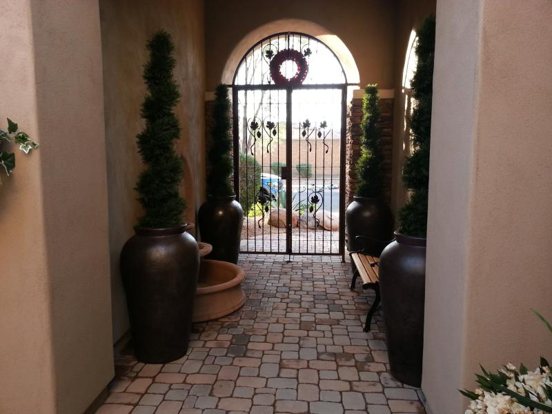 The entry way to both the house and your private entrance to the casita.
