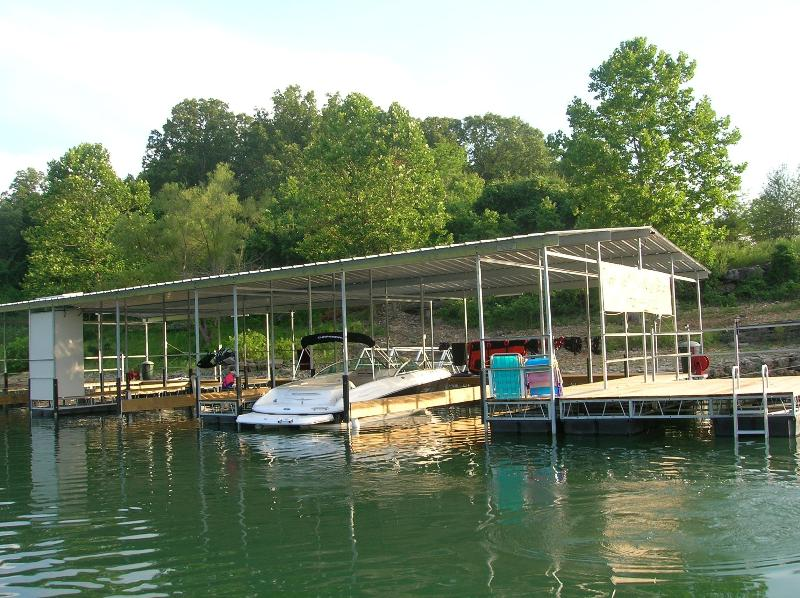 Private dock for your group with swim platform and slips for your boats
