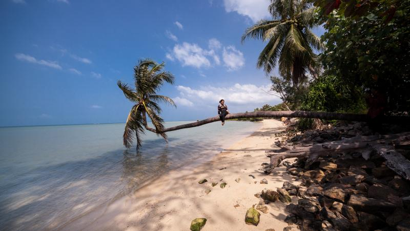 Woktum Beach just 1.5km from Coco Lilly