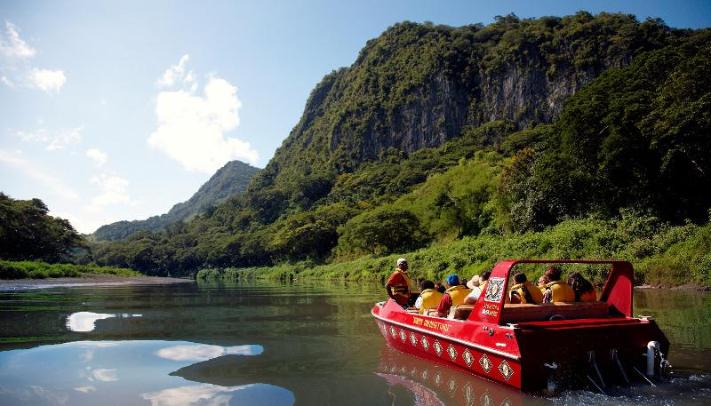 Take a thrill packed adventure ride up the Sigatoka River, with a village visit & lunch.