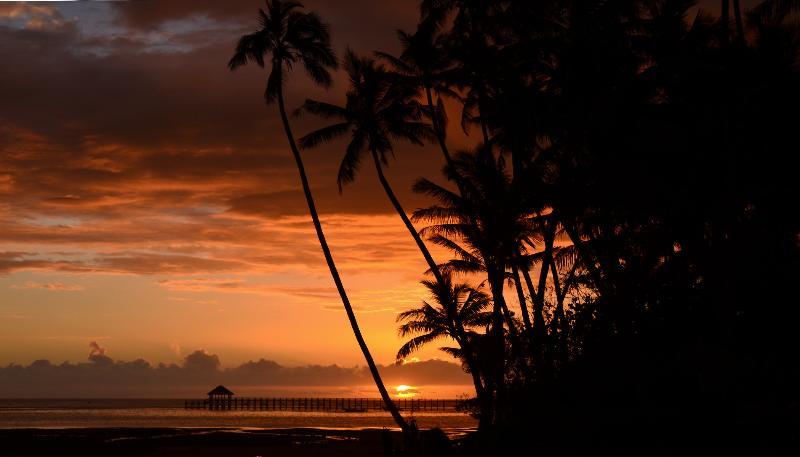 Otra de las impresionantes puestas de sol.