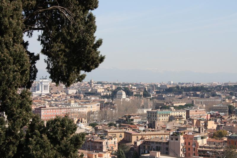View of Rome from Villa Sciarra