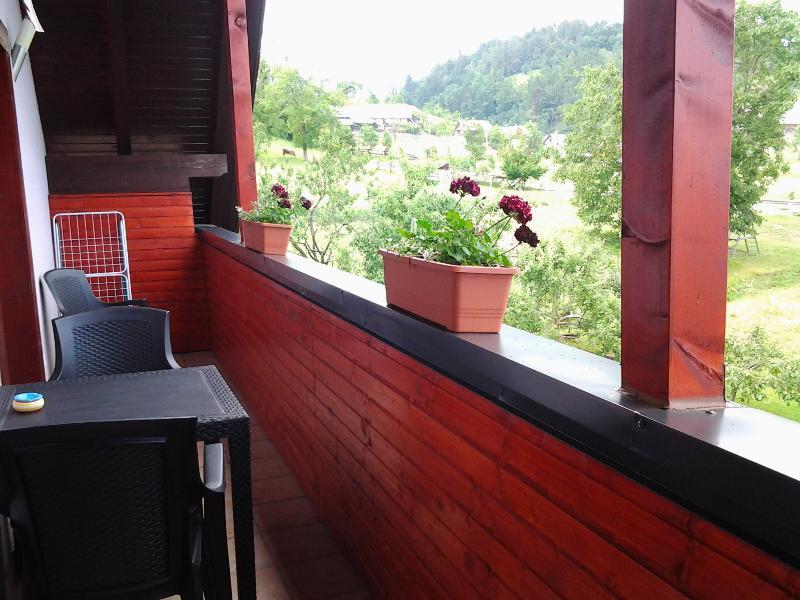 Balcón con vistas al jardín apartamento nº 1