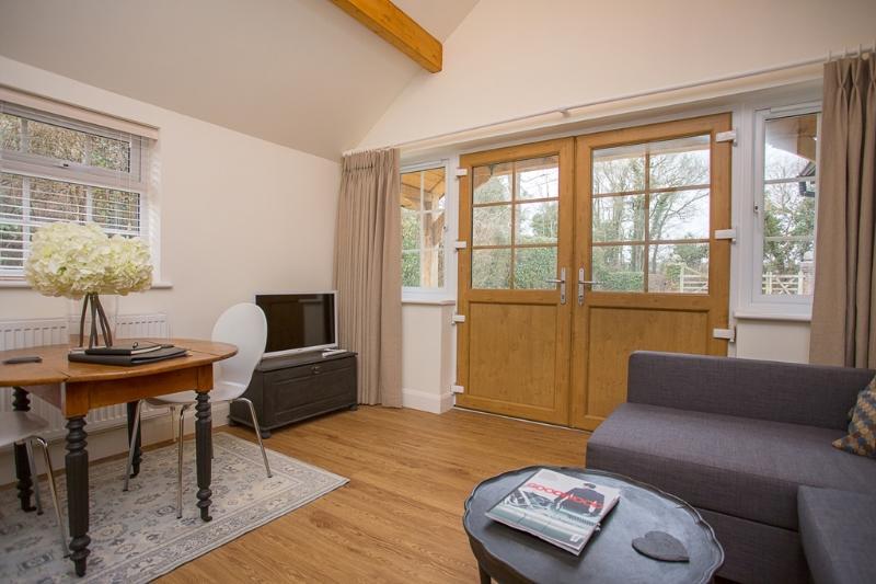 Living Room & Outside View.  Smart TV