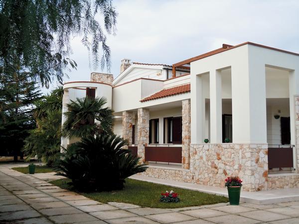 villa in residential area