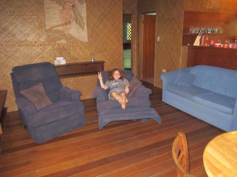 Comfy lounges to watch supplied DVD's , no TV reception