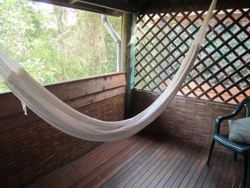 Read one of the supplied books or listen to some music in the hammock