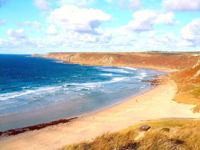 Whitesand Bay Sennen for water sports with lifeguards