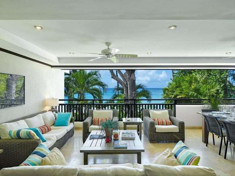 Relaxing seating area
