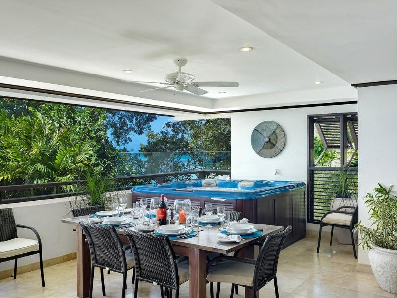 Dining on the Veranda and state of the art jacuzzi pool