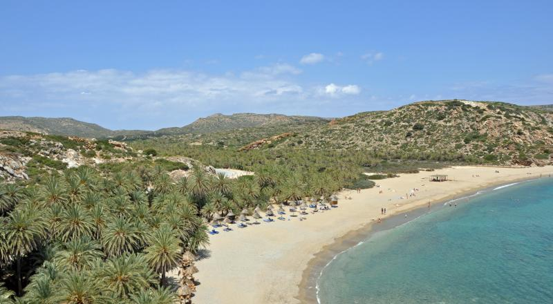 Vai - Palm forest beach (Only natural in Europe)