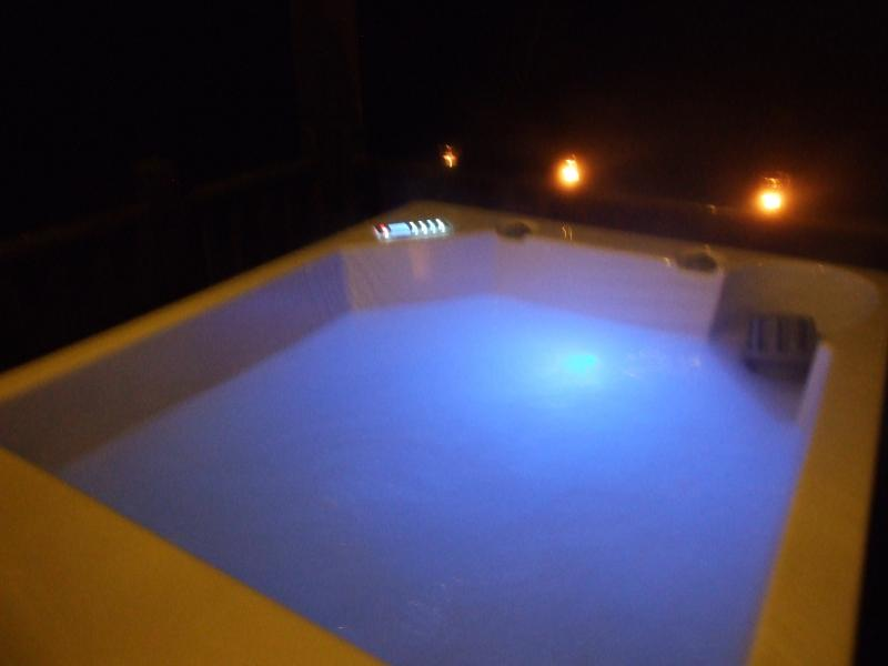 Night time in the hot tub