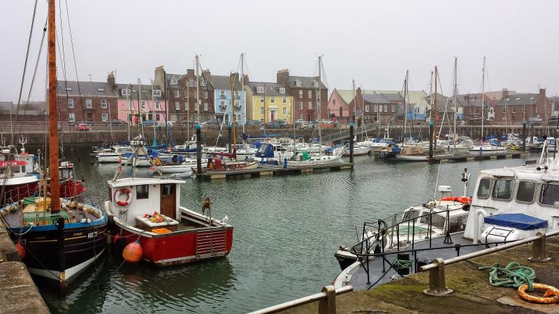 Arbroath busy harbour,See the famous Arbroath Smokies being smoked.Fishing trips daily from quaysid
