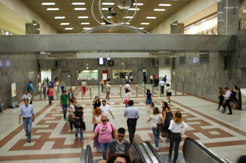 Die Metrostation Syntagma in Athen