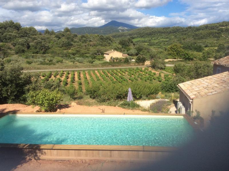 Nieuw zwembad met prachtig uitzicht op de Mont Ventoux