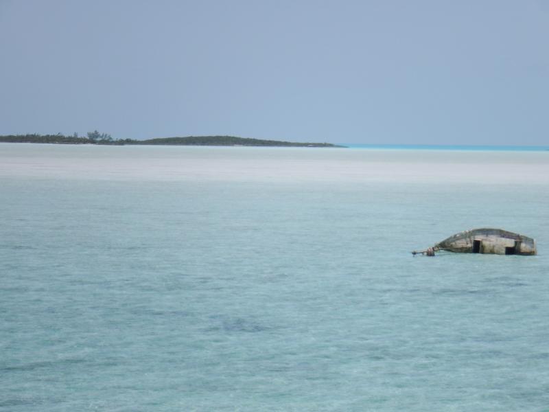 En marea baja a pie de barco