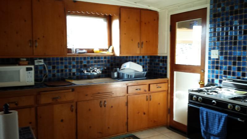 Kitchen counter under window