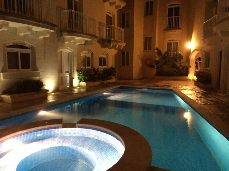 pool by night. pool can be used anytime of the day and night